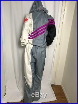 Vtg 80s Neon OBERMEYER Rocket Mens XL One Piece Ski Suit Snow Bib Snowsuit