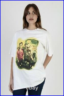 Vtg 90s Green Day Punk Rock Band 1995 Dookie Tour White Cotton Tee T Shirt XL