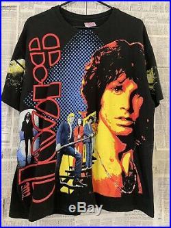 Vtg 90s The Doors Jim Morrison All Over Print T-shirt