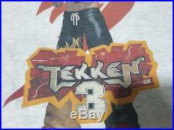 Vtg 90s Vintage 1994-1996 Namco Tekken 3 Graphic Anime Video Game t shirt