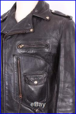 8cbc7c5dfd5 Vtg Buco J-24 Horsehide Leather Motorcycle Jacket USA Mens Size 42 ...