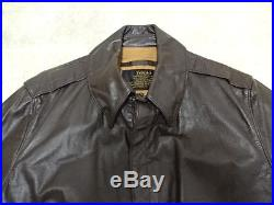 Vtg Flight Apparel Industries A2 Brown Leather Flight Jackt Men Sz 42 Great Cond