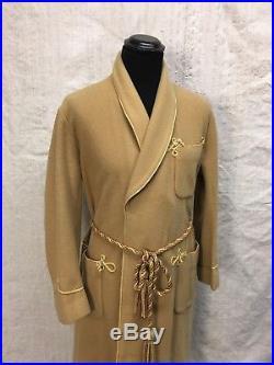 Vtg Jaeger Dressing Gown 1930's Camel Dressin Gown 40's Jaeger Dressing Robe Vtg