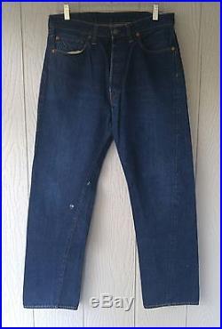 Vtg. LEVI big E 501 Jeans-SingleStitch/Redline