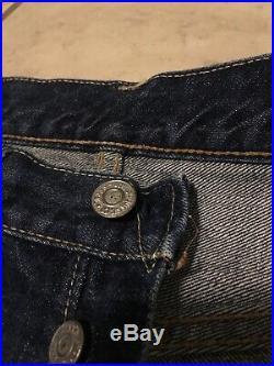 Vtg Levis Big E Redline 501 V Stitch Lot Of 2 Jeans 31/32-32/30 Actual