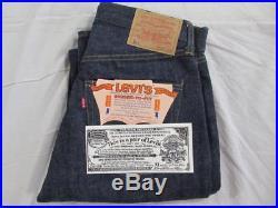 Vtg NOS 60s A Type Levi 501 Big E Redline Denim Jeans 29x36 Work Wear Deadstock