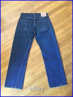 Vtg S Type Big E 501 Single Stitch Redline 501s Usa 3 Wash Levis 32 29 1/2