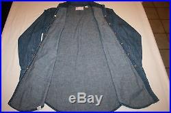 Vtg Wrangler Sanforized Western Denim Shirt USA Pearl Jean Indigo 15.5 33 M EUC