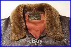 WWII Original Vintage USN US Navy M-422A Leather Jacket pre G1