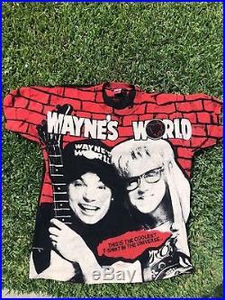 Wayne's World Shirt Vintage tshirt 1992 All Over Print Movie tee Mike Myers 90s