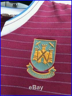 West Ham United 1985/1986/1987 Home Football Shirt Jersey Adidas Vintage