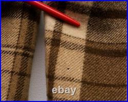 Woolrich 60's Men's M Sherpa lined Wool Mackinaw Coat vtg Buffalo Plaid Jacket