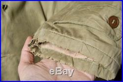 Wwii Ww2 Us Army Cotton Od Officers Mackinaw Jeep Coat Jacket Vtg Military Small