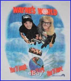 XL NOS vtg 90s 1992 WAYNE'S WORLD movie promo sweat shirt 62.162