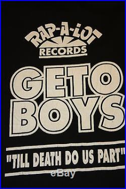 XL NOS vtg 90s 1993 GETO BOYS king techs radio show t shirt rap hip hop SWAY