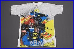 XL NOS vtg 90s 1993 all over print GHOSTRIDER x BLAZE marvel comic t shirt
