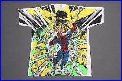 XL NOS vtg 90s 1993 all over print SPIDER MAN x ELEKTRO marvel comic t shirt