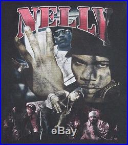 XXL vtg NELLY Ride Wit Me bootleg rap hip hop t shirt 32.167
